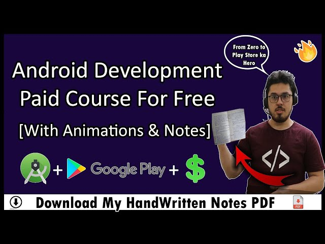 Android Development Tutorial For Beginners In Hindi With Notes р