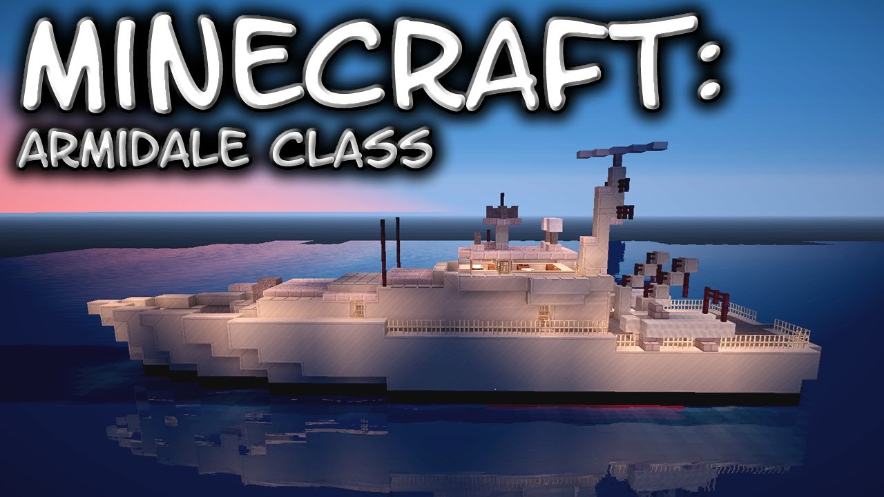 Minecraft Armidale Class Patrol Vessel Tutorial Youtube