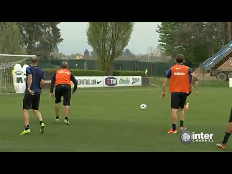 ALLENAMENTO INTER REAL AUDIO 08 04 2014