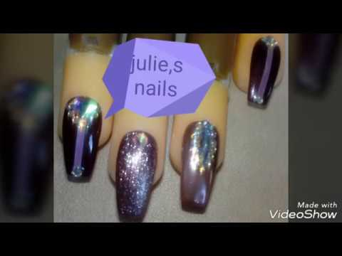 Rose gold nails , platinum , burgundy gelpolish nails