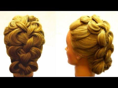 Плетение волос.Плетение на средние волосы.Hair braiding