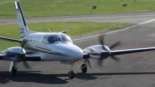 Cessna 441 Conquest - Cross wind take off - Gloucestershire Airport
