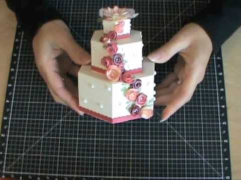 3-D Cardstock Cakes using the Art Philosophy Cricut Cartridge