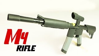 How To Make A Fully Automatic Paper M4 Rifle That Shoots