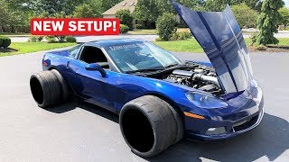 ONE OF MY VEHICLES WAS IN AN ACCIDENT...  PLUS MORE TRACTION FOR MY TWIN TURBO 1,000HP CORVETTE!!!