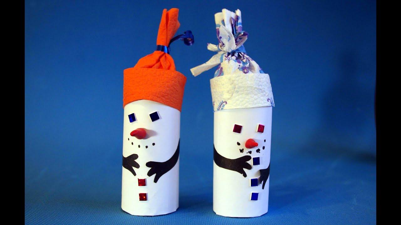 Поделка снеговик из бумаги