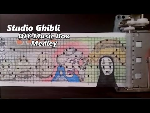 Studio Ghibli Music Box Medley--10 feet long!
