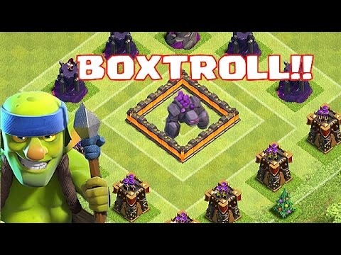 Clash Of Clans - GOLEM TROLL BASE!!!
