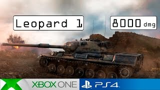 Leopard 1 Big Damage! - World of Tanks Console ( PS4 / Xbox )