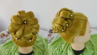 Lotus Flower Hairstyle (easy) / Penteado Flor de Lotus (facil)