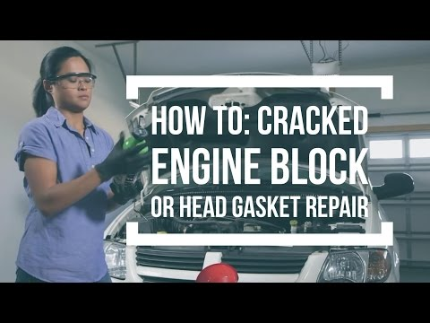 How to repair a cracked engine block or head gasket with K&W FIBERLOCK