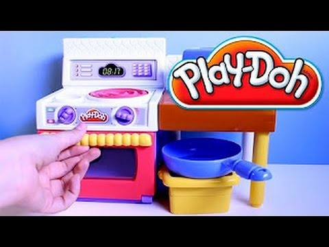 Play Doh Meal Makin Kitchen Playset Play Dough Mini Kitchen Chef Cocinita de Juguete Toy Videos