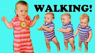 Baby Eli Walking ~ Baby Learns to Walk First Baby Steps