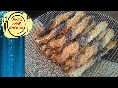 Peynirli Milföy Çubukları