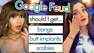 SHOULD I GET BUTT IMPLANTS - Google Feud w/ Laurenzside