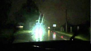 Volvo 480 trip. Rainy and stormy night. Filming tool - SONY HDR-XR350