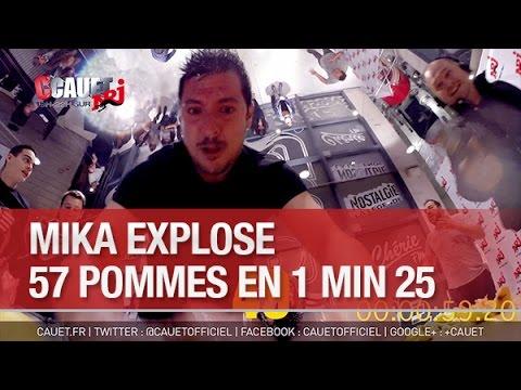 Mika explose 57 pommes en 1 min 25 - C'Cauet sur NRJ