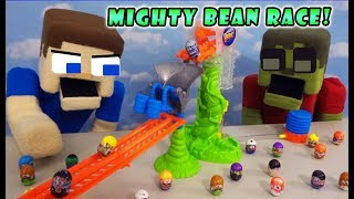 MIGHTY BEANZ RACE TRACK CHALLENGE! Playset & Blind Box unboxing!