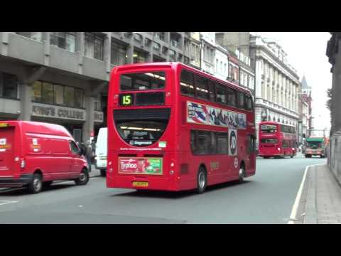 (HD) A Stagecoach Enviro 400 Hybrid on Route 15 to Regent Street passing Aldwych