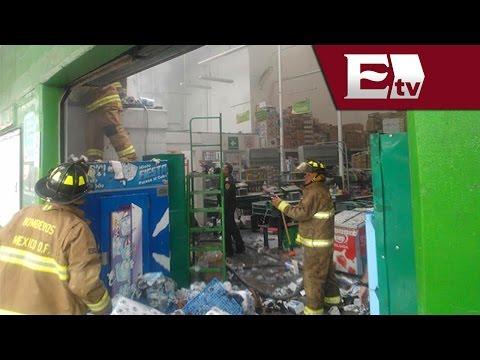 Incendio en tienda de autoservicio en Xola, DF/ Comunidad