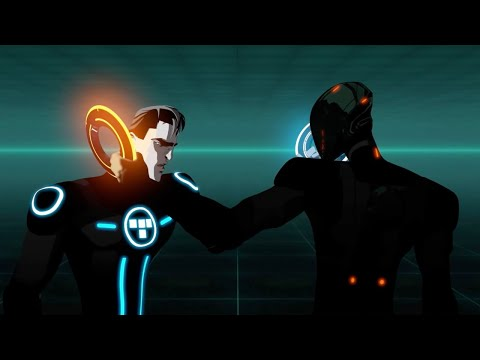 Rinzler vs Beck / Tron Is Alive | Beck's Beginning | TRON: Uprising