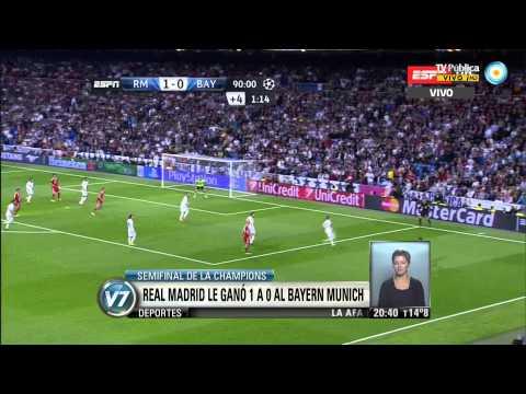 Visión 7: Champions League: Real Madrid 1 - 0 Bayern Munich