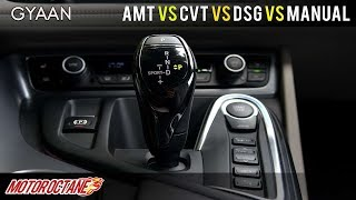 AMT vs DCT vs CVT vs Auto vs Manual Transmissions Explained | Hindi | MotorOctane