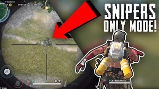 Crazy Barrett shots! Snipers Mode montage | Rules Of Survival