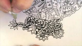 Speed Drawing with Mix Doodle & ASMR Sounds by Sophia (doodle, Zentangle, tangle,  drawing)