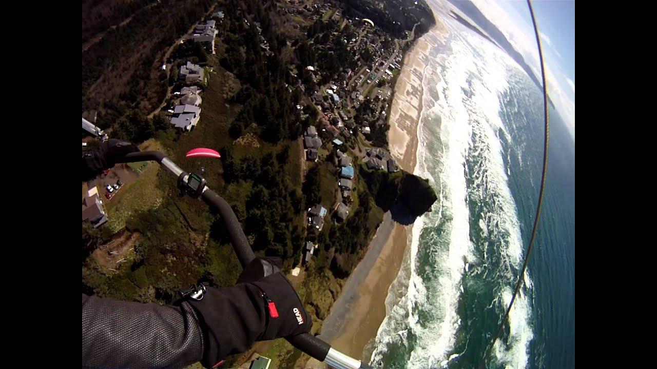 Hang gliding at Oceanside  Oregon   3 24 15 report