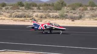 Maiden flight of Dan's big BAE Hawk Jet