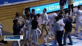 Notre Dame Men's Fencing Highlights - ACC Team Championship