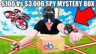 $100 Vs $10,000 SPY GADGETS EBAY MYSTERY BOX 📦⁉️ Night Vision Googles, Drones, Toys  & More!