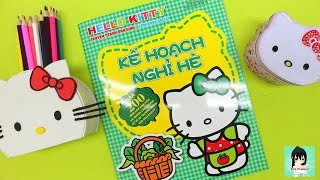 """HELLO KITTY BOOK FOR KIDS """"  summer vacation plan"""" - Ami Channel"""