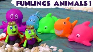 Learn Colors and Animals with the Funny Funlings Hide and Seek Game - A fun story for kids