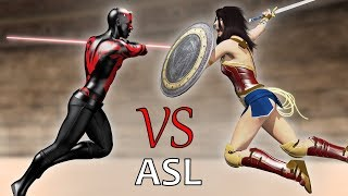 Star Wars vs Wonder Woman (ASL)