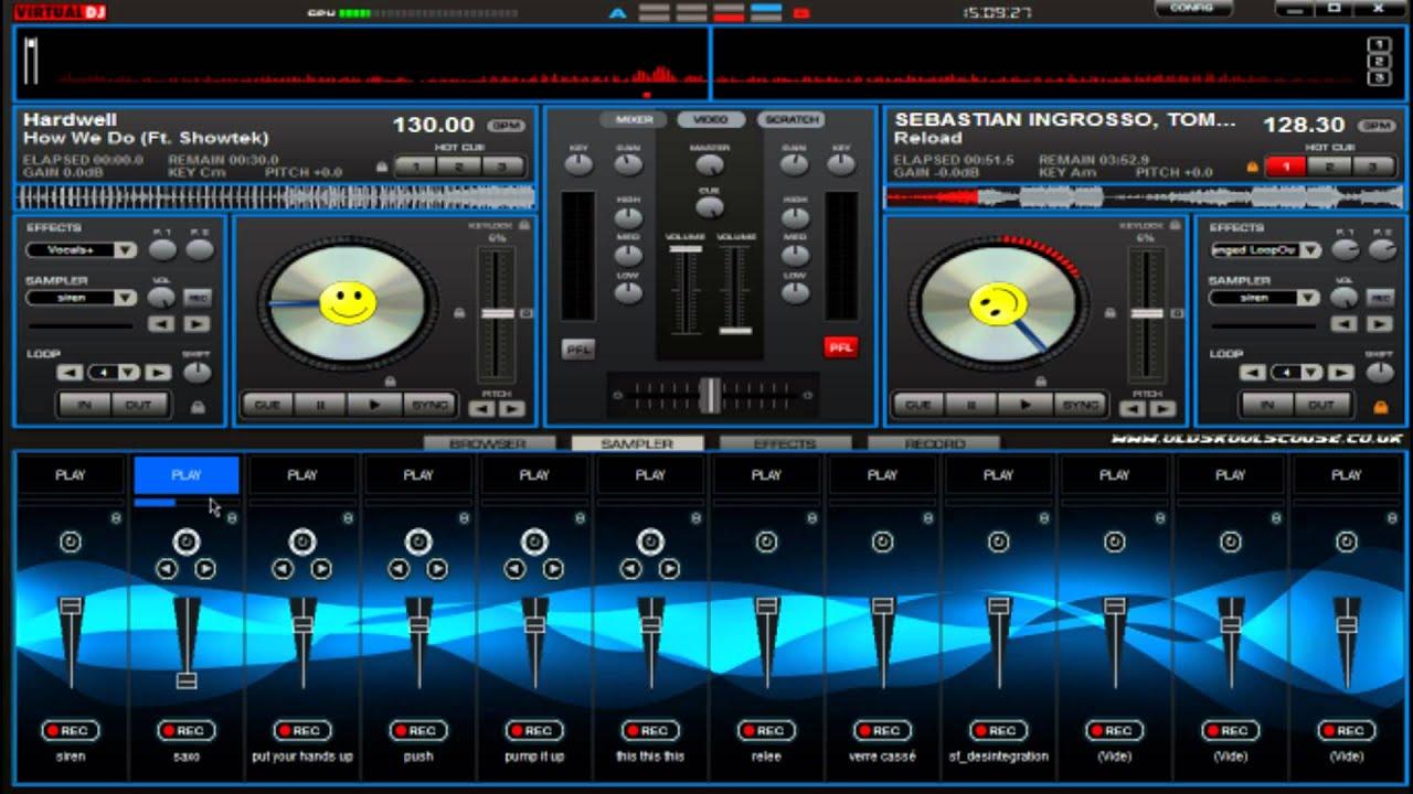 Mixer For Virtual Dj