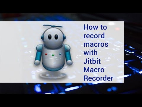 How to record macros with Jitbit Macro Recorder   video tutorial by TechyV