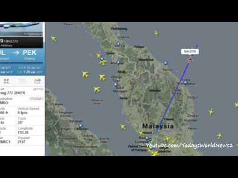 Malaysia Airlines MH370 disappears from air traffic map