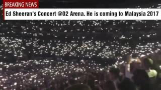 Ed Sheeran coming to Malaysia soon in 2017