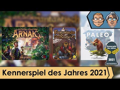 Kennerspiel des Jahres 2021 - Nominiert sind Paleo, Arnak und Fantastische Reiche - Talk mit Sven