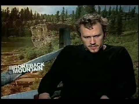 Heath Ledger Interview For Brokeback Mountain video