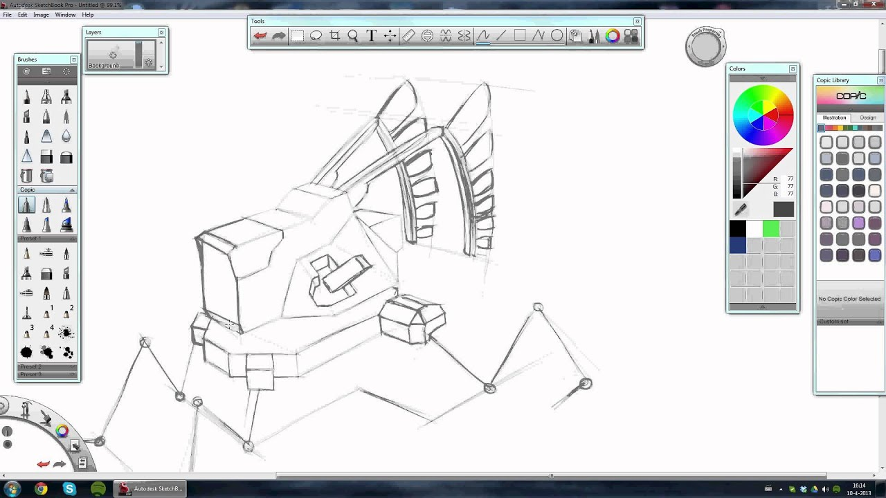 Robot Concept Drawings Concept Art Robot Sketching