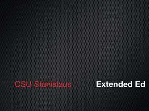 CSU Stanislaus Extended Education
