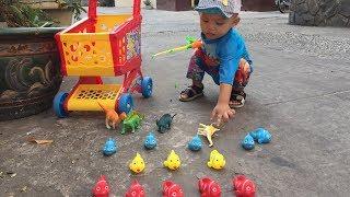 Đồ Chơi Câu Cá Trẻ Em Với Cá hề NEMO Và Khủng Long - GhiGhi ToysReview TV- Fun kids Fishing