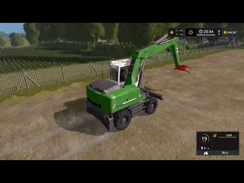 Farming simulator 2017 Timelapse #8 | Logging on The valley the old farm