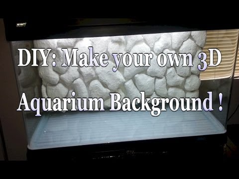 Diy 3d Aquarium Background 80 Gallon Aquarium Youtube
