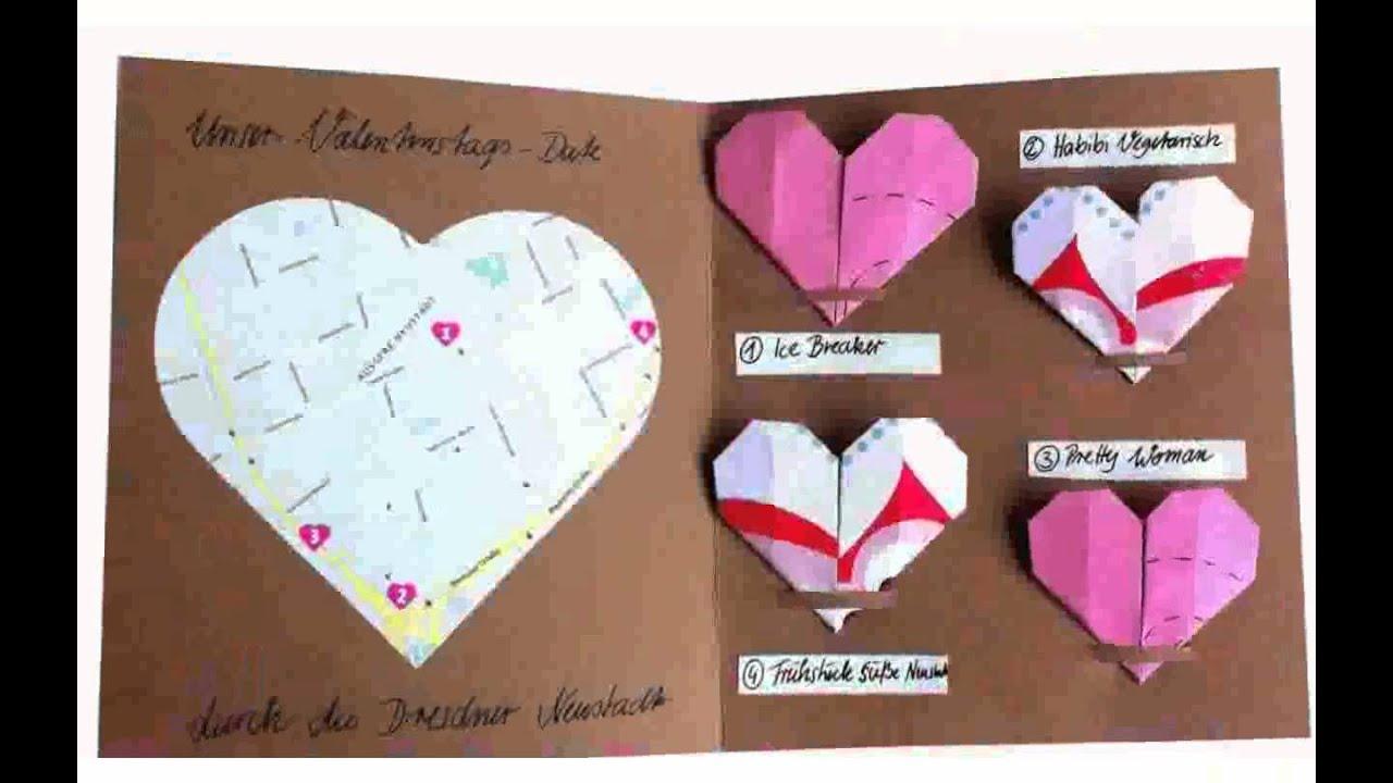Basteln Valentinstag ideen - YouTube