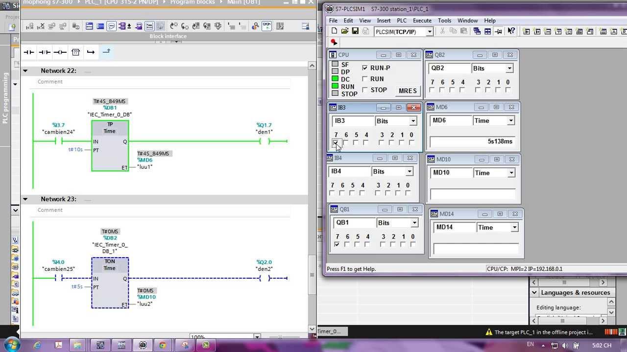 Simulation Timer Tp   Ton   Toff In Tia Portal V12