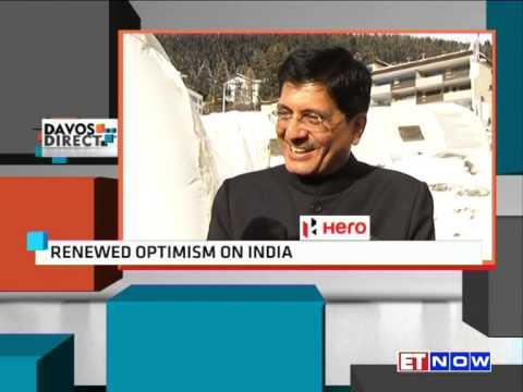 Coal & Power Minister Piyush Goyal To ET NOW @ World Economic Forum Meet In Davos